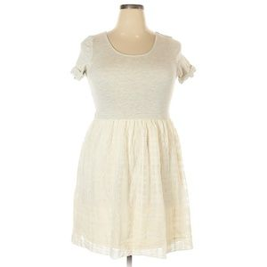 Anthropologie Everleigh Ivory Veris Dress